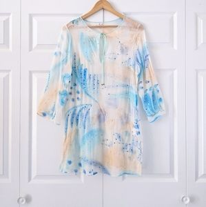 Vintage Joie Beaded Silk Dress Cover Up | M